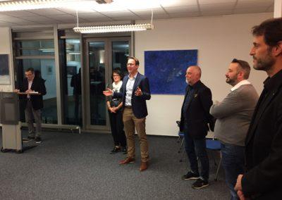 Dankende Worte von OB Dr. Johannes Fridrich an alle Künstler und an Citymarketing