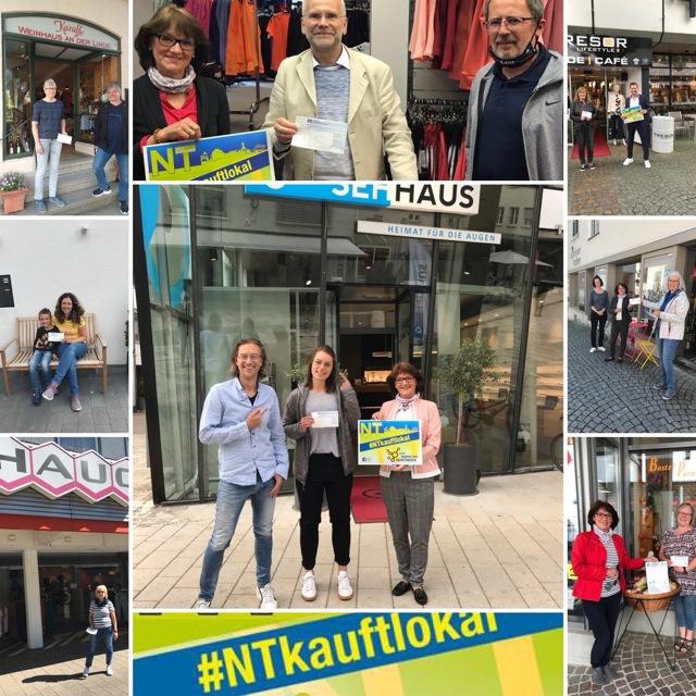 Ein paar der glücklichen Gewinner unserer Aktion #NTkauftlokal